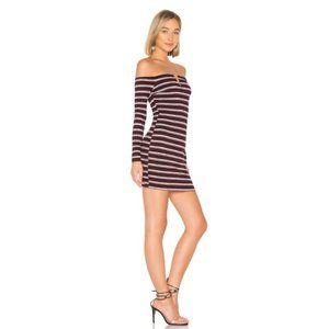 REVOLVE Striped Off Shoulder Mini Dress Small